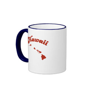 HAWAII Red State Ringer Coffee Mug