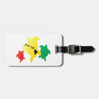 Hawaii Reggae Turtles Luggage Tag