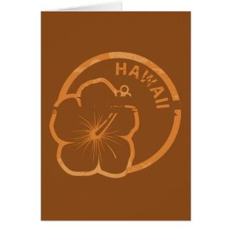 Hawaii rubber stamp greeting card