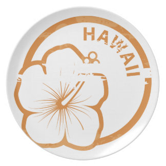 Hawaii rubber stamp plates