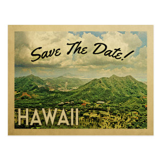 Hawaii Save The Date Vintage Postcards