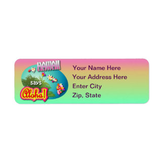 Hawaii Says Aloha! Return Address Label