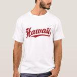Hawaii script logo in red T-Shirt