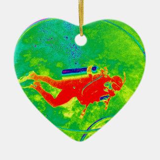 Hawaii Scuba Diver Christmas Ornament