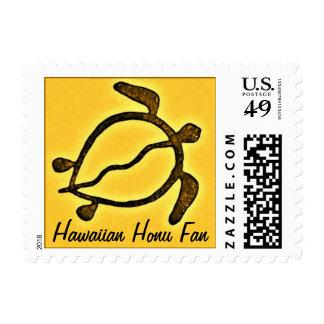 Hawaii Sea Turtle Fan postage stamp