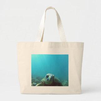 Hawaii Sea Turtle Large Tote Bag