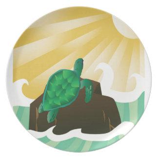 Hawaii Sea Turtle Plate