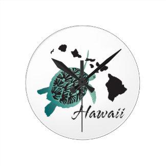 Hawaii Sea Turtle Wall Clocks