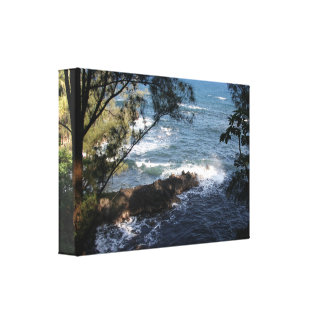 Hawaii Shoreline Wallart Canvas Print