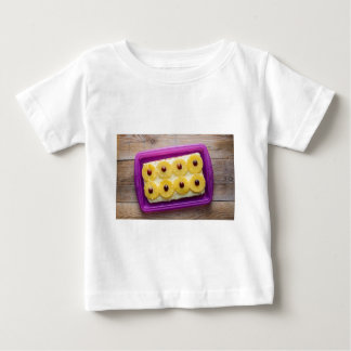 Hawaii slices with pineapple on rustic wood tee shirts