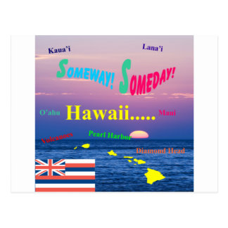 Hawaii Someway Someday Postcard