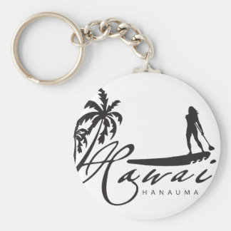 Hawaii Stand Up Paddle Key Ring