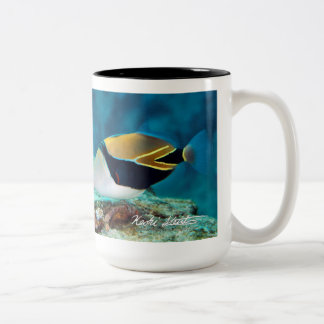 Hawaii State Fish, Humuhumunukunukuapua'a Two-Tone Coffee Mug