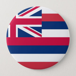 Hawaii State Flag 10 Cm Round Badge