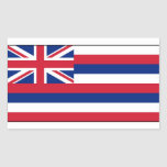 Hawaii State Flag Rectangle Stickers