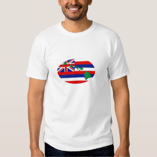 Hawaii State Flag with Islands Euro Design Shirts