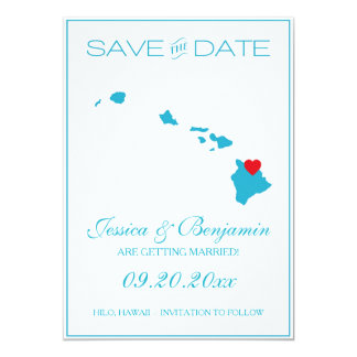 Hawaii State Map Save the Date Cards 13 Cm X 18 Cm Invitation Card
