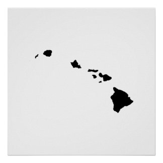Hawaii State Outline Poster
