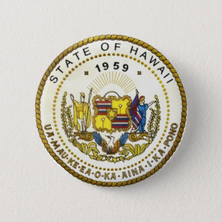 Hawaii State Seal 6 Cm Round Badge