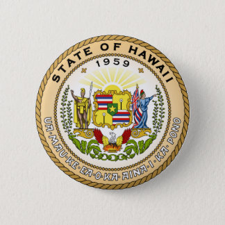 Hawaii state seal america republic symbol flag 6 cm round badge