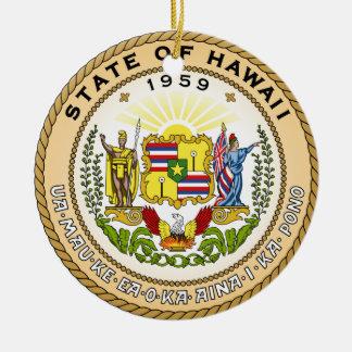 Hawaii State Seal Christmas Ornament