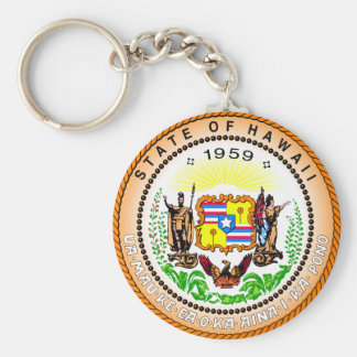 Hawaii State Seal Keychain