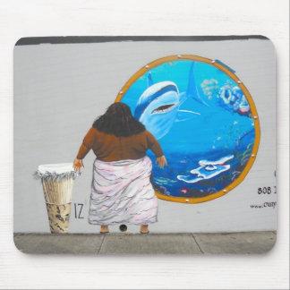 Hawaii Street Art Mural Mouse Mat