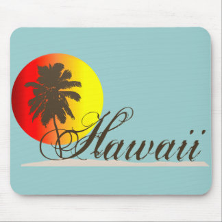 Hawaii Sunset Souvenir Mouse Pad