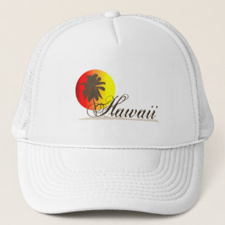 Hawaii Sunset Souvenir Trucker Hat