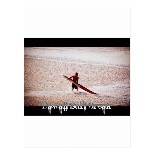 Hawaii Surf Break Surfs Up Postcard