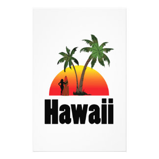 hawaii surfer stationery paper