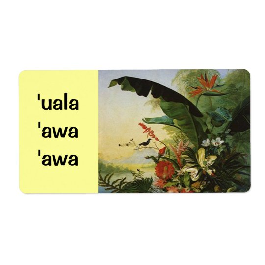 Hawaii Sweet Potato Beer  Homebrew Label uala awa Shipping Label