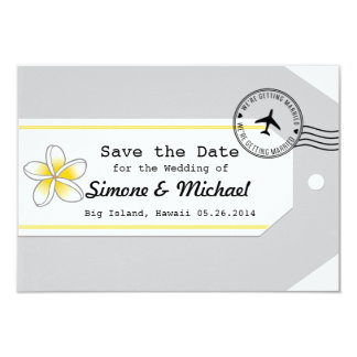 Hawaii travel theme Luggage Tag Save the Date Card
