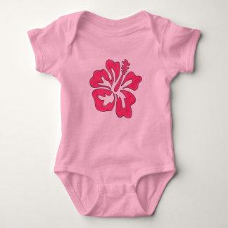 Hawaii Tropical Pink Hibiscus Flower Hawaiian Baby Bodysuit