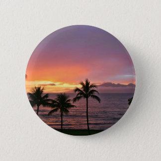 Hawaii Tropical Sunset on the Beach 6 Cm Round Badge