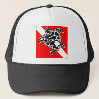 Hawaii Turtle Dive Flag Trucker Hat