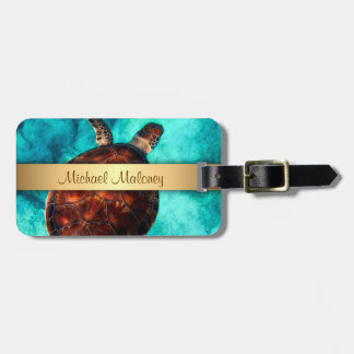 Hawaii Turtle Honu Luggage Tag