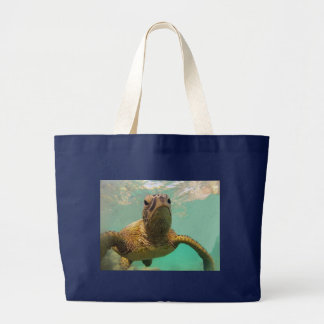 Hawaii Turtle Large Tote Bag