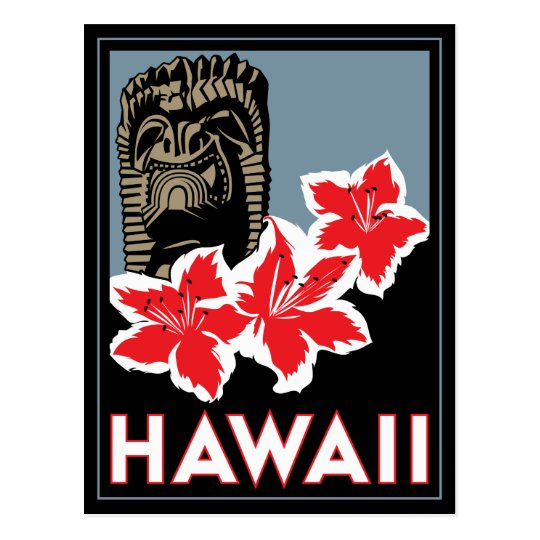 hawaii united states usa art deco retro travel