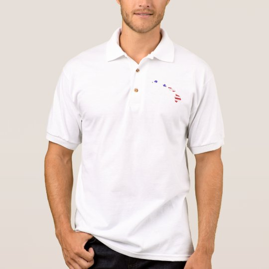 Hawaii USA silhouette state map Polo Shirt