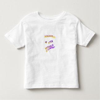 Hawaii USA World Country colorful text art T-shirt
