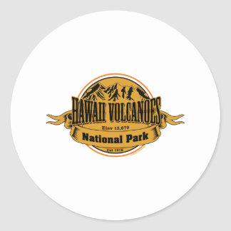 Hawaii Volcanoes National Park, Hawaii Classic Round Sticker