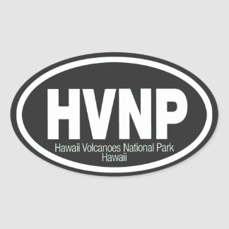 Hawaii Volcanoes National Park Oval Sticker