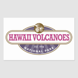 Hawaii Volcanoes National Park Rectangular Sticker