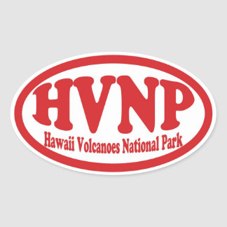 Hawaii Volcanoes National Park red oval sticker