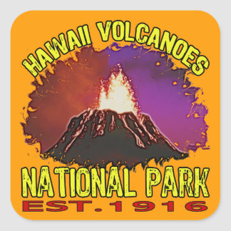 Hawaii Volcanoes National Park Square Sticker