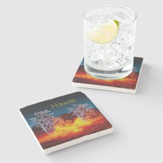 Hawaii volcanoes stone beverage coaster