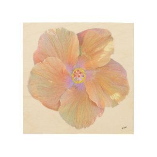 Hawaii Watercolor Hibiscus Flower Wood Prints