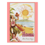 Hawaii - Where Dreams Begin Postcard