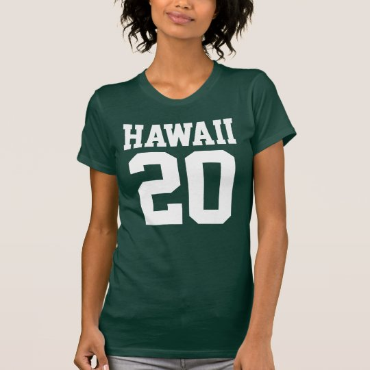 Hawaii With Number (Customisable Number) T-Shirt